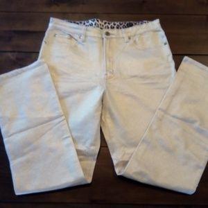 Diane Gilman goldflake canvas jeans like new (14 )